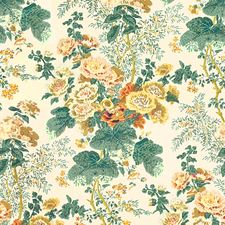 Yellow Print Drapery and Upholstery Fabric by Lee Jofa