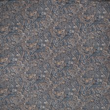 Azure Paisley Drapery and Upholstery Fabric by Trend