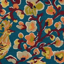 Teal Drapery and Upholstery Fabric by B. Berger