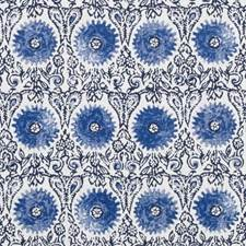 Blue Floral Medium Drapery and Upholstery Fabric by Duralee
