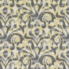 Yellow Ethnic Drapery and Upholstery Fabric by Duralee