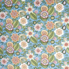 Bluebird Print Pattern Drapery and Upholstery Fabric by Trend