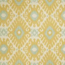 Lemon Zest Flamestitch Drapery and Upholstery Fabric by Trend