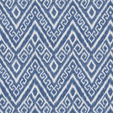 Navy Flamestitch Drapery and Upholstery Fabric by Trend