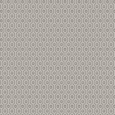 Grey Geometric Drapery and Upholstery Fabric by Trend