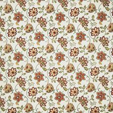 Red Floral Drapery and Upholstery Fabric by Trend