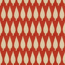 Persimmon Geometric Drapery and Upholstery Fabric by Stroheim
