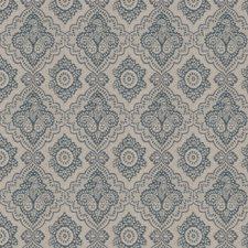 Indigo Paisley Drapery and Upholstery Fabric by Fabricut