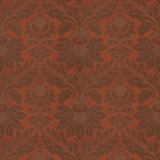 Paprika Damask Drapery and Upholstery Fabric by Vervain