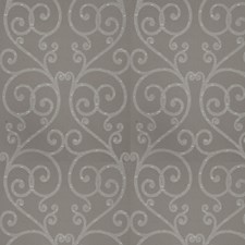 Pewter Scrollwork Drapery and Upholstery Fabric by Trend