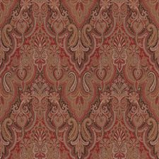 Crimson Paisley Drapery and Upholstery Fabric by Trend