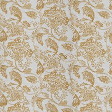 Golden Floral Drapery and Upholstery Fabric by Fabricut