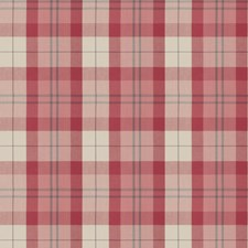 Pink Check Drapery and Upholstery Fabric by Fabricut