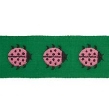 Pink/amp/Green Trim by Schumacher