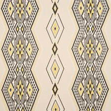 Yellow/amp/Neutral Drapery and Upholstery Fabric by Schumacher