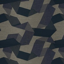 Denim Wash Geometric Drapery and Upholstery Fabric by S. Harris