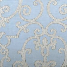 Chambray Embroidery Drapery and Upholstery Fabric by Highland Court