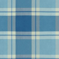 Light Blue/Blue Plaid Drapery and Upholstery Fabric by Brunschwig & Fils