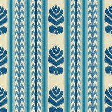 Indigo Ikat Drapery and Upholstery Fabric by Brunschwig & Fils