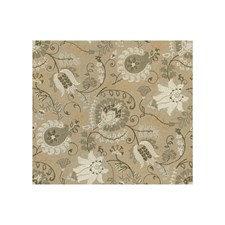 White/Dove Botanical Drapery and Upholstery Fabric by Brunschwig & Fils