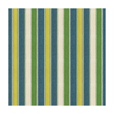 Teal/Lime Stripes Drapery and Upholstery Fabric by Brunschwig & Fils