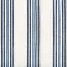 Indigo/Sky Stripes Drapery and Upholstery Fabric by Brunschwig & Fils