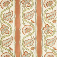 Pumpkin Botanical Drapery and Upholstery Fabric by Brunschwig & Fils