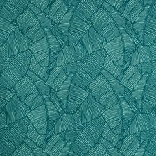 Teal Botanical Drapery and Upholstery Fabric by Brunschwig & Fils