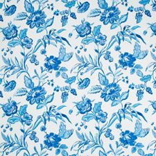 Marine Botanical Drapery and Upholstery Fabric by Brunschwig & Fils