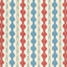 Red Ikat Drapery and Upholstery Fabric by Brunschwig & Fils