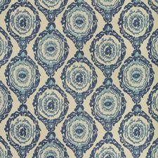 Indigo Ikat Drapery and Upholstery Fabric by Brunschwig & Fils