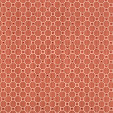 Coral Geometric Drapery and Upholstery Fabric by Brunschwig & Fils