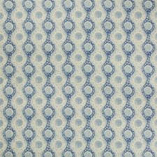 Blue Ethnic Drapery and Upholstery Fabric by Brunschwig & Fils
