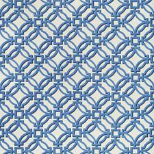 Porcelain Geometric Drapery and Upholstery Fabric by Brunschwig & Fils