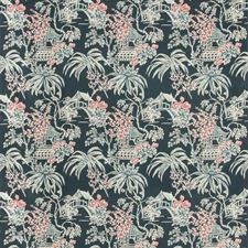 Midnight Asian Drapery and Upholstery Fabric by Brunschwig & Fils