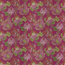 Flamingo Floral Drapery and Upholstery Fabric by Stroheim