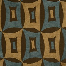 Dusty Blue Geometric Drapery and Upholstery Fabric by S. Harris