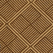 Teak Geometric Drapery and Upholstery Fabric by S. Harris