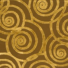Amber Gold Geometric Drapery and Upholstery Fabric by S. Harris