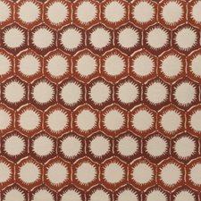 Nectarine Geometric Drapery and Upholstery Fabric by S. Harris