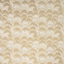 Bronze Geometric Drapery and Upholstery Fabric by S. Harris