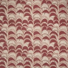 Poppy Geometric Drapery and Upholstery Fabric by S. Harris