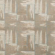 Aqua Geometric Drapery and Upholstery Fabric by S. Harris