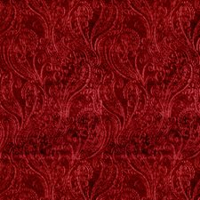 Crimson Paisley Drapery and Upholstery Fabric by S. Harris
