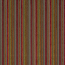 Geranium Stripes Drapery and Upholstery Fabric by S. Harris