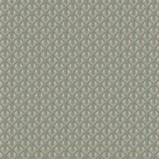 Aqua Geometric Drapery and Upholstery Fabric by Trend