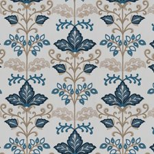Delft Floral Drapery and Upholstery Fabric by Fabricut