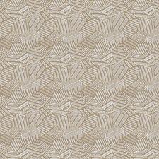 Sand Bird Geometric Drapery and Upholstery Fabric by S. Harris
