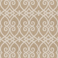 Silver Geometric Drapery and Upholstery Fabric by Trend