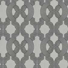 Black/White Lattice Drapery and Upholstery Fabric by Fabricut